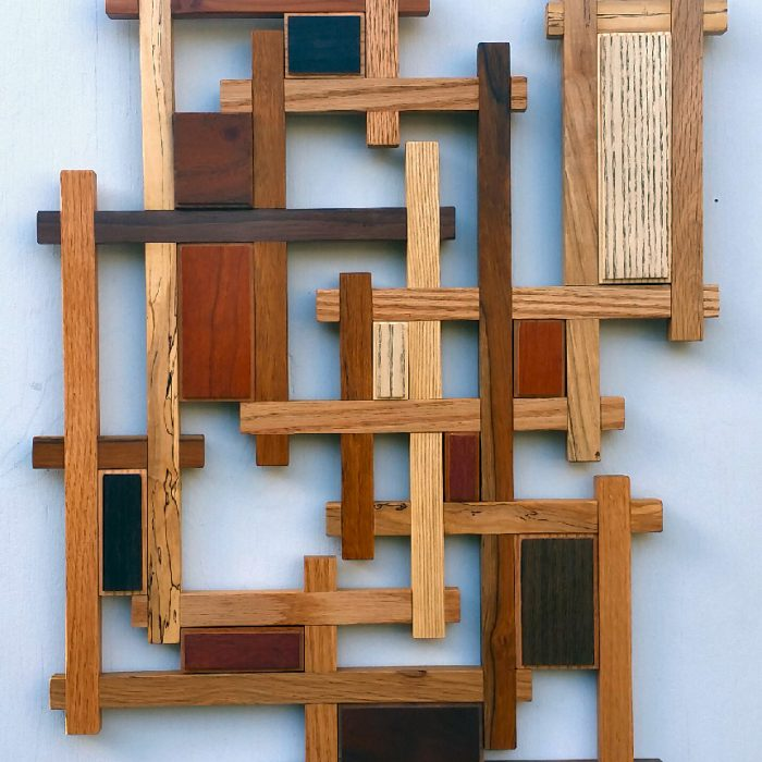 Wood Sculpture Signature Wall Hanging